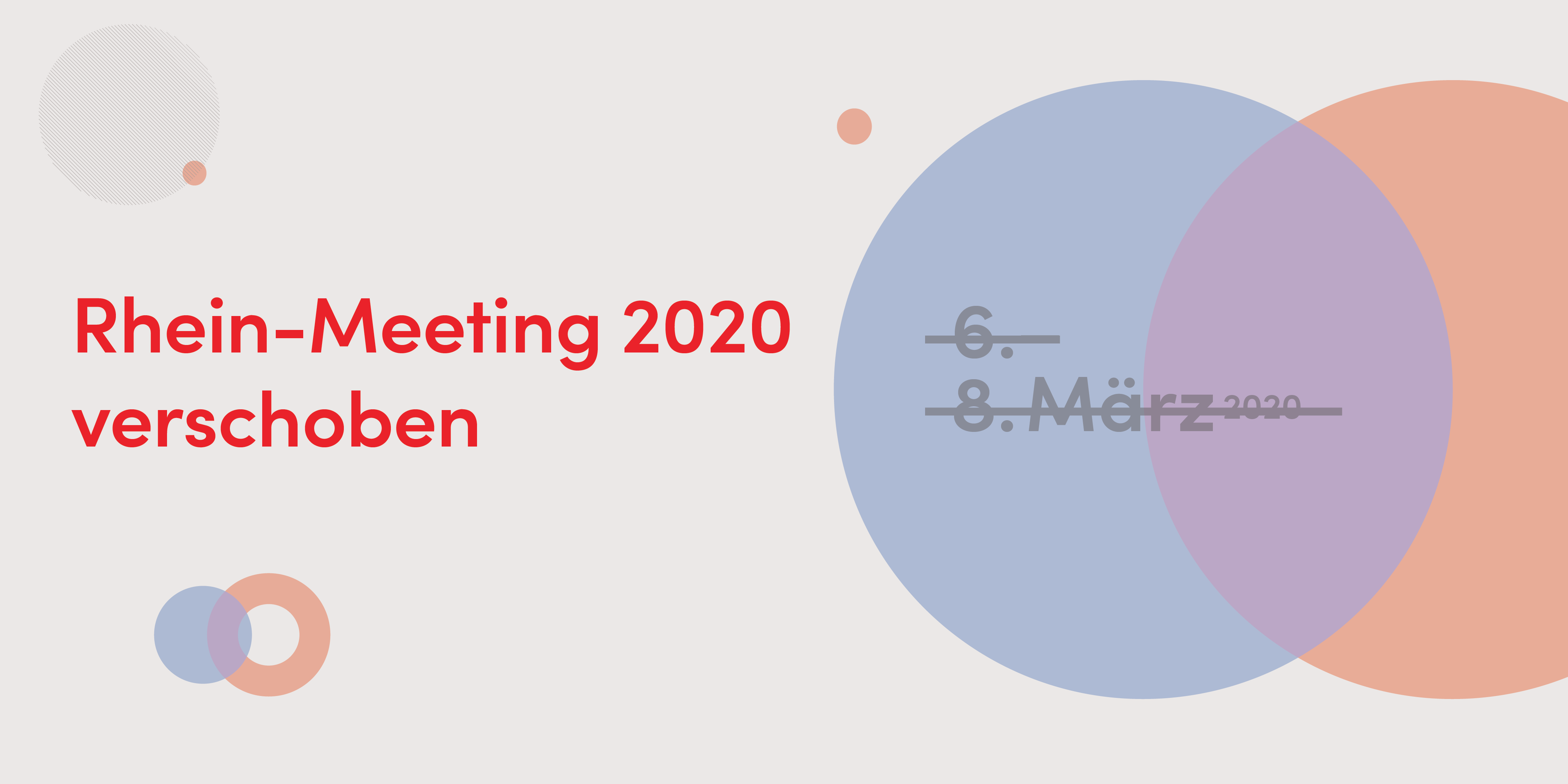 Rhein-Meeting 2020 verschoben
